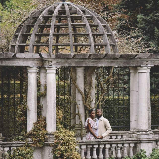 pergola garden hampstead engagement