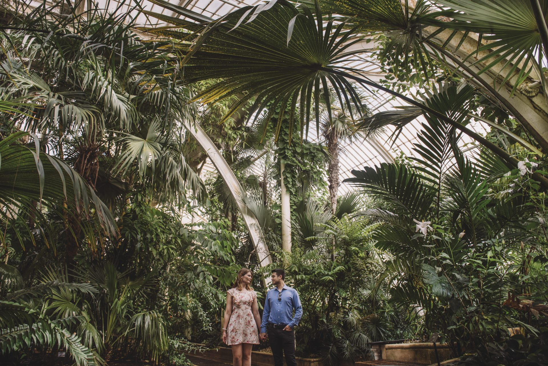 Sarah and Jon Kew Gardens Engagement | Emma Jane Photography