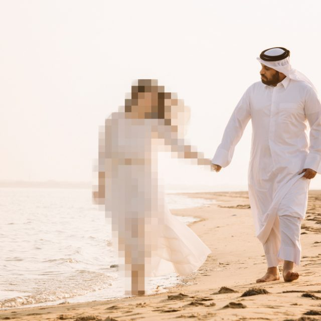 Qatar engagement shoot destination wedding