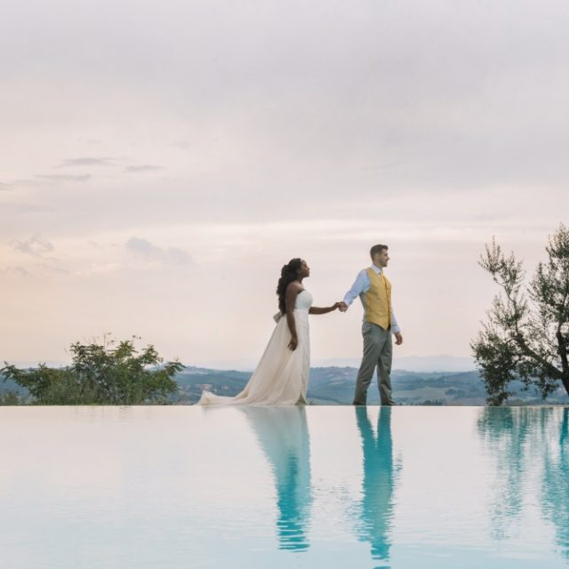 tuscany poolside wedding