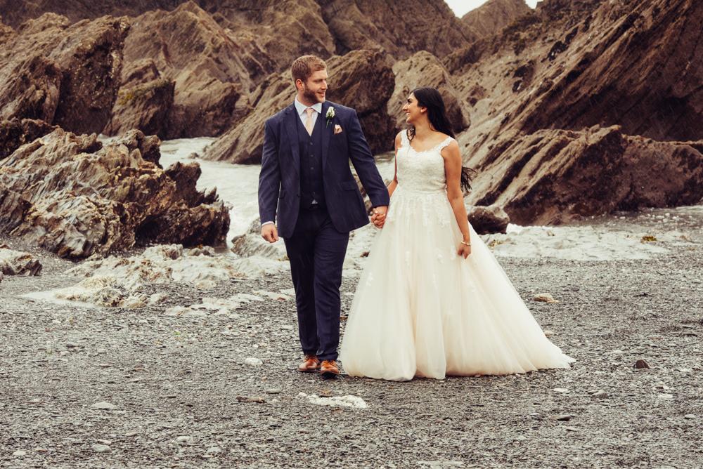 Tunnels Beaches Wedding Photography: Tunnels Beaches Devon Wedding